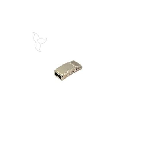 Cierre rectangolar curvado cuero plano 5mm