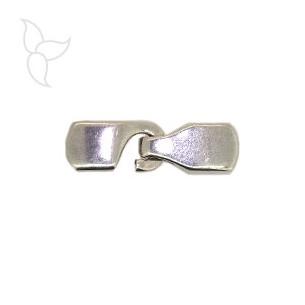 Hakenverschluss rechteck lederband 10mm