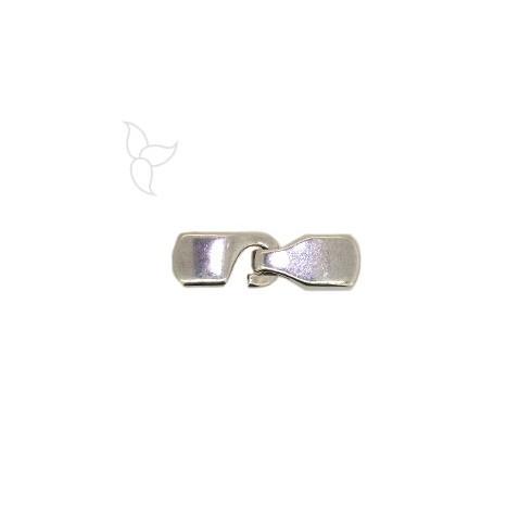 Rectangular hook clasp flat 10mm leather
