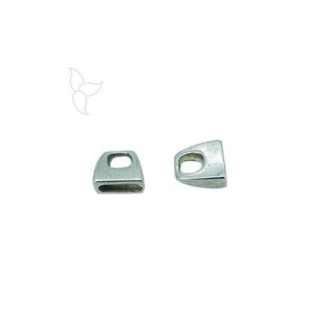 Embout simple cuir plat 10mm
