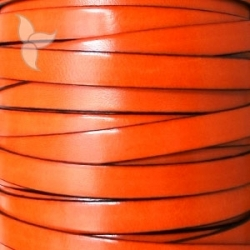 Orange flat leather 10mm