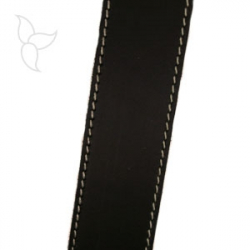 Brown flat leather 30mm