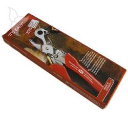Lever action revolving punch plier