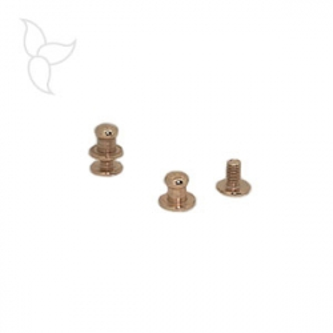 Golden button rivet