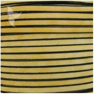 Cuir plat vintage jaune 5mm