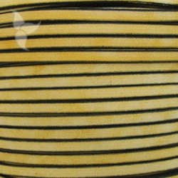 Vintage yellow flat leather 5mm