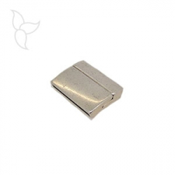 Rectangular clasp curved flat leather 25mm