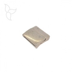 Rectangular clasp curved flat leather 20mm