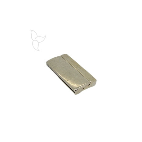 Rectangular clasp curved flat leather 30mm