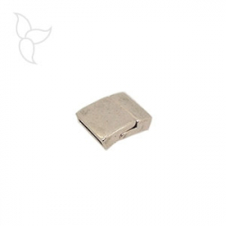 Rectangular clasp curved flat leather 15mm