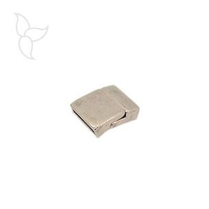Verschluss rechteck geschwungen lederband 15mm