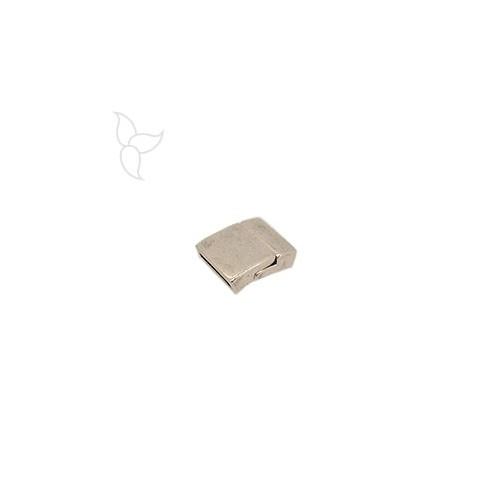 Cierre rectangolar curvado cuero plano 15mm