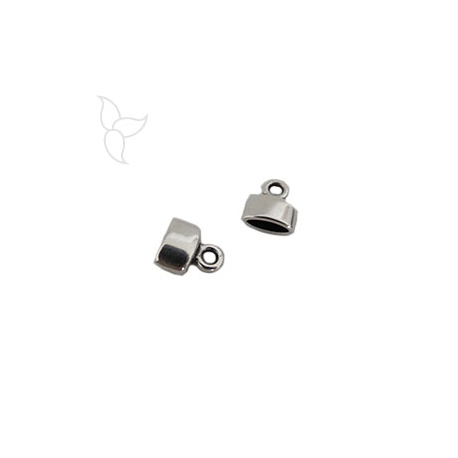 Embout cuir plat 6mm