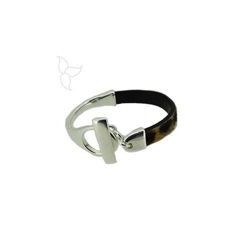 Knebelverschluss und halb armband leder 10mm