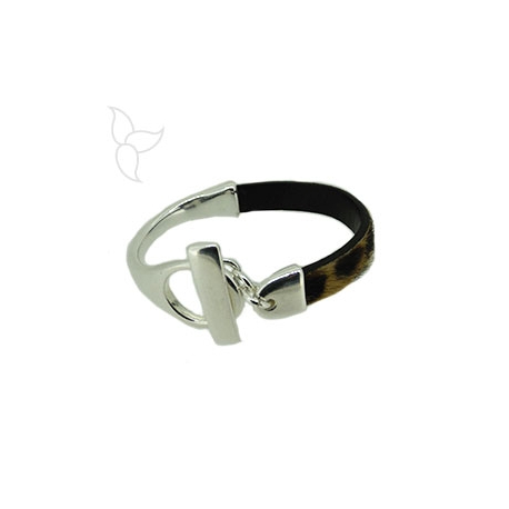 T clasp and half bracelet leather 10mm