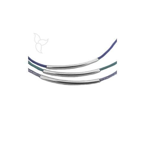 Spacer Rohre Halskette 2mm