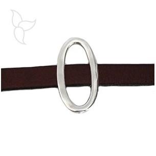 Adorno grande ovalado cuero 10mm