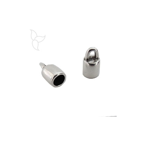 Embout cuir rond 5mm