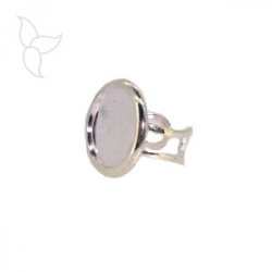 Adjustable ring with round part setting