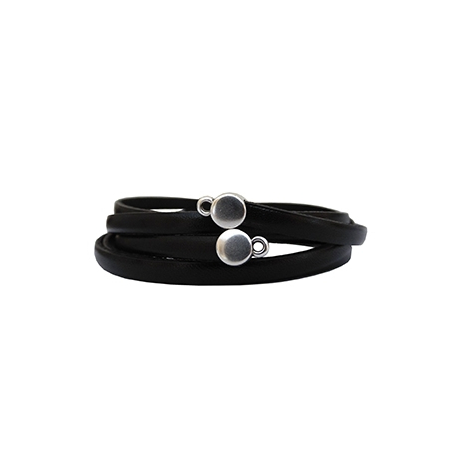Embout cuir plat 5mm