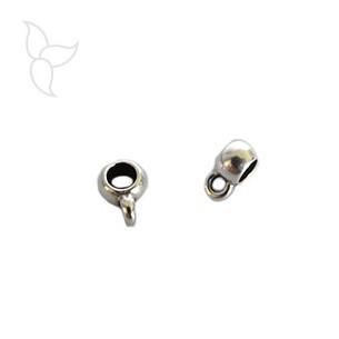 Passant anneau accrochage cuir rond 3 à 4mm