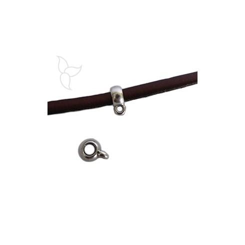 Passant anneau accrochage cuir rond 4 à 5 mm