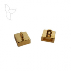 Gold color with hanging ring slider 10mm