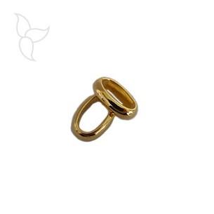 Largo anello ovale dorato