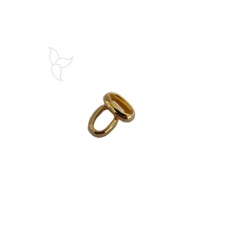Gold color large oval ring
