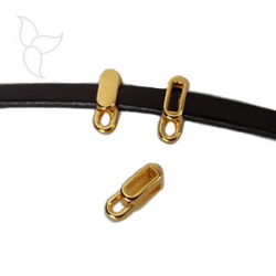 Openworked slider with hanging ring golden 5mm