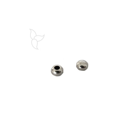 Embout boule cuir rond 2mm