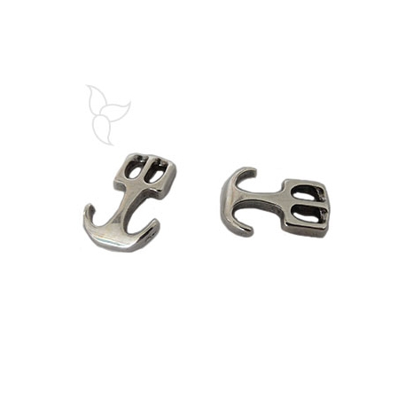 Anchor clasp round leather