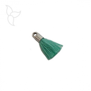 Green tissu tassel with terminal