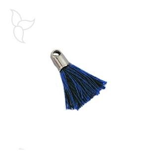 Quasten in stoff marineblau mit endkappe