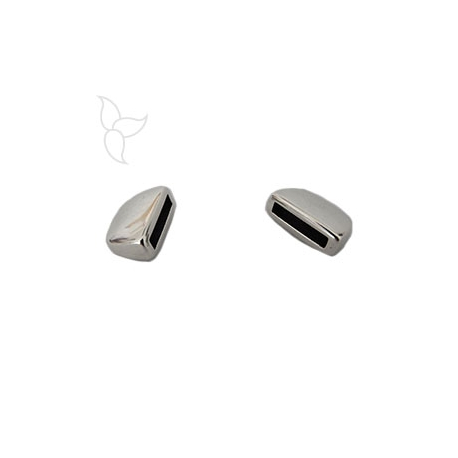 Embout arondi cuir plat 10mm