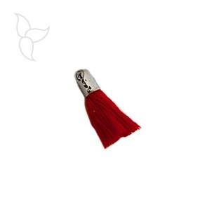 Red tissu tassel with terminal