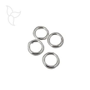 Anilla redonda 8mm hilo pequeno banado plata