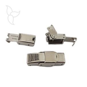Verschluss clip Stahl leder 5mm