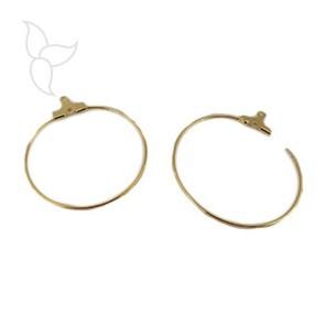 Ring for earrings 40mm golden
