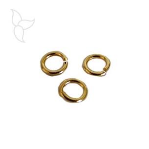 Round ring 6mm thin golden