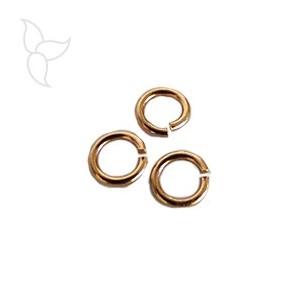Anello rotondo 6mm oro rosa