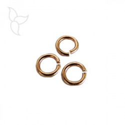 Anneau rond 6mm petite section or rose