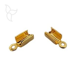 Embout à serrer doré cordon 4mm