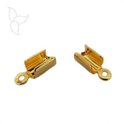 Terminal rectangular golden cord 4mm