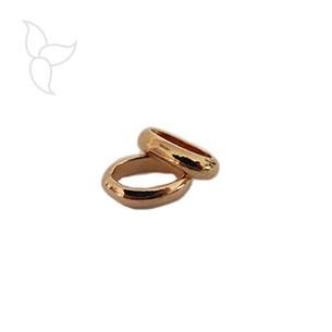 Ancha anilla ovalo oro rosa