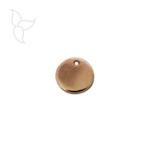 Pendentif petite medaille or rose