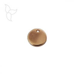 Small medal pendant golden pink
