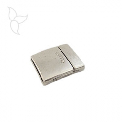 Rectangular line clasp flat leather 15 mm
