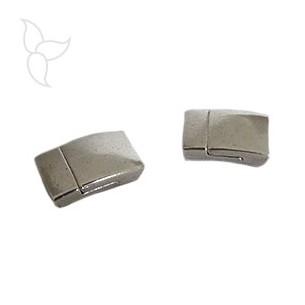 Chiusure magnetico rettangle peltro cuoio 10mm
