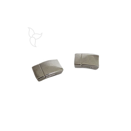 Rectangle magnetic clasp flat leather tin 10mm